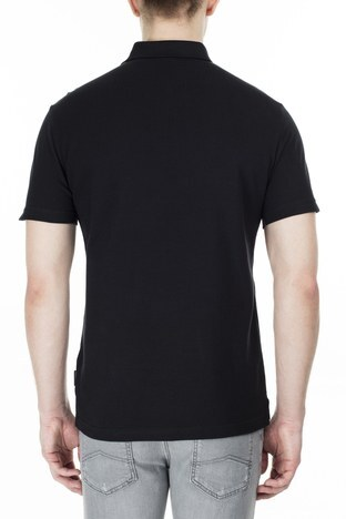 Armani Exchange - Armani Exchange T Shirt Erkek Polo 3HZFAF ZJ3NZ 1200 SİYAH (1)