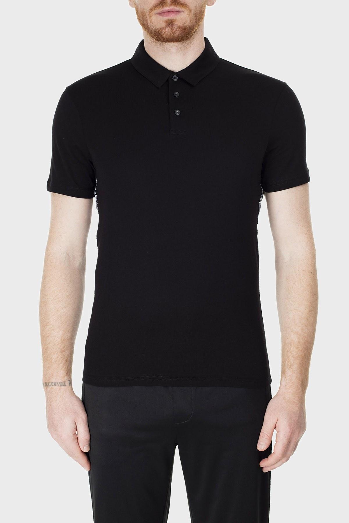Armani Exchange T Shirt Erkek Polo 3HZFFM ZJBVZ 1200 SİYAH