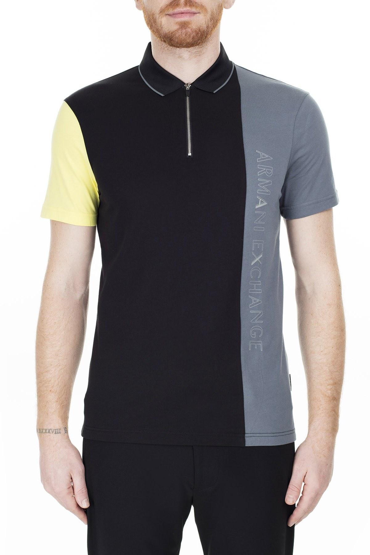 Armani Exchange T Shirt Erkek Polo 3HZFGB ZJBVZ 6250 SİYAH