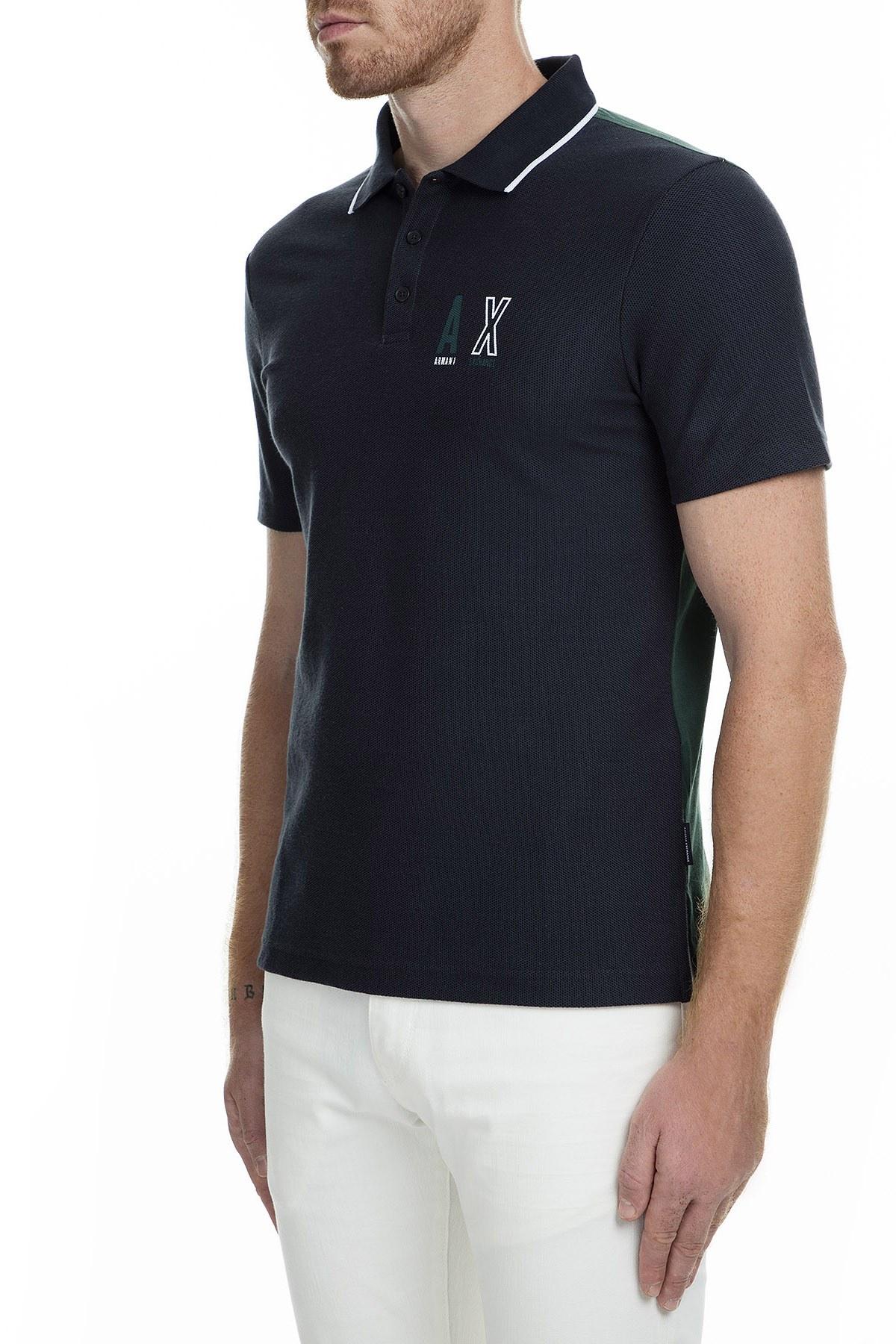 Armani Exchange T Shirt Erkek Polo 6GZFAF ZJW5Z 6593 LACİVERT