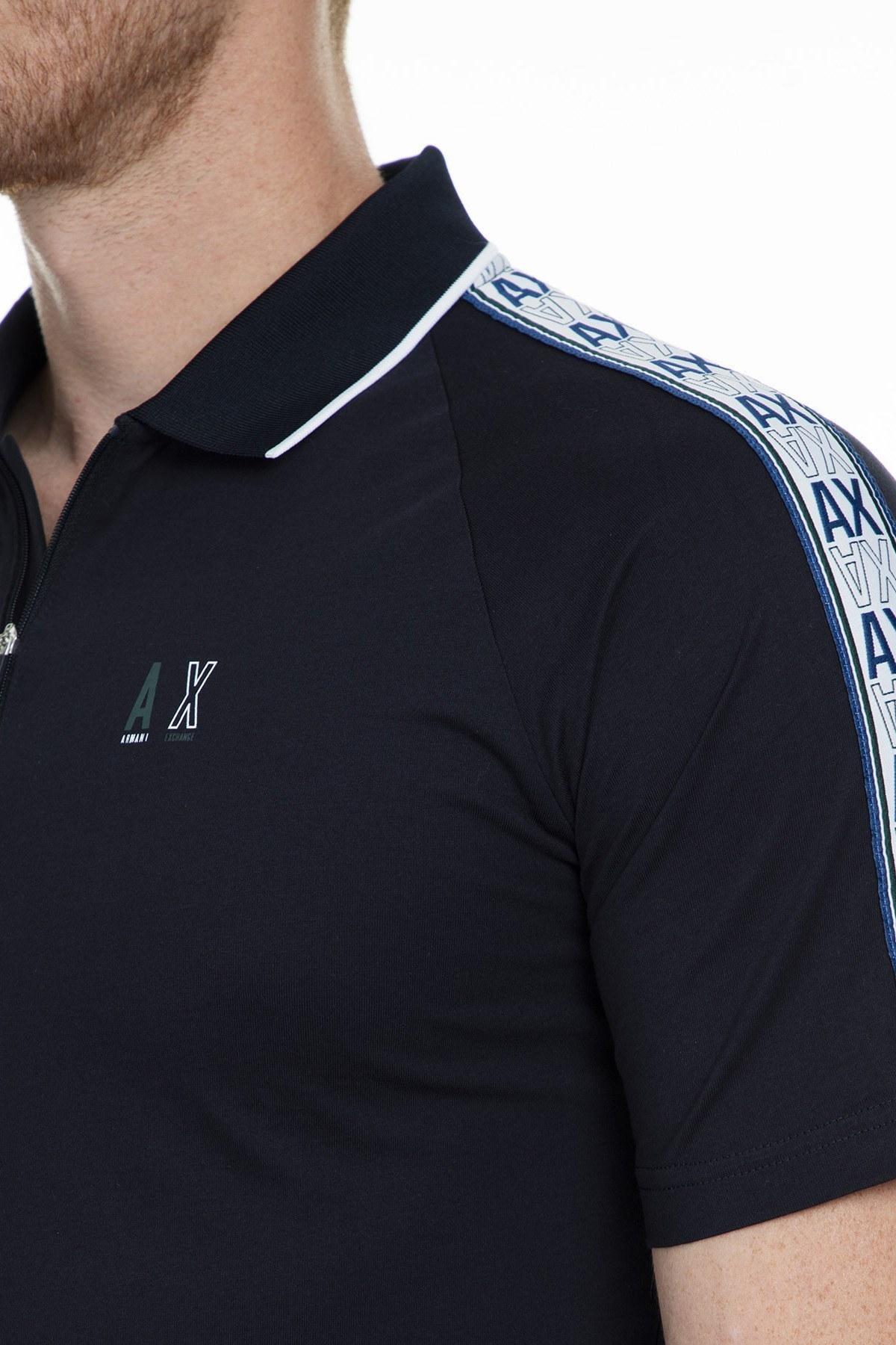 Armani Exchange T Shirt Erkek Polo 6GZFBE ZJBVZ 1510 LACİVERT