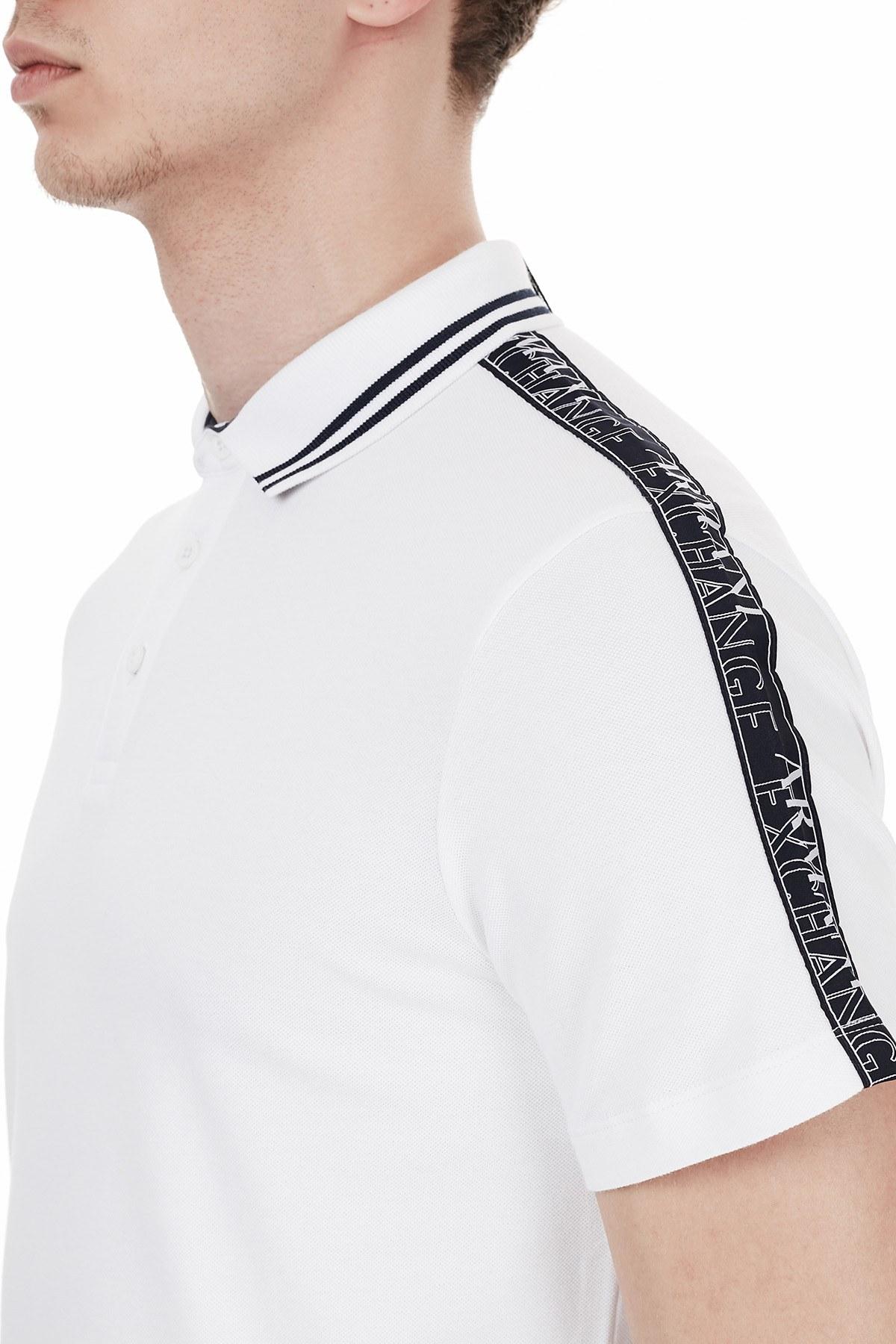 Armani Exchange T Shirt Erkek Polo 6HZFFF ZJU3Z 1100 BEYAZ