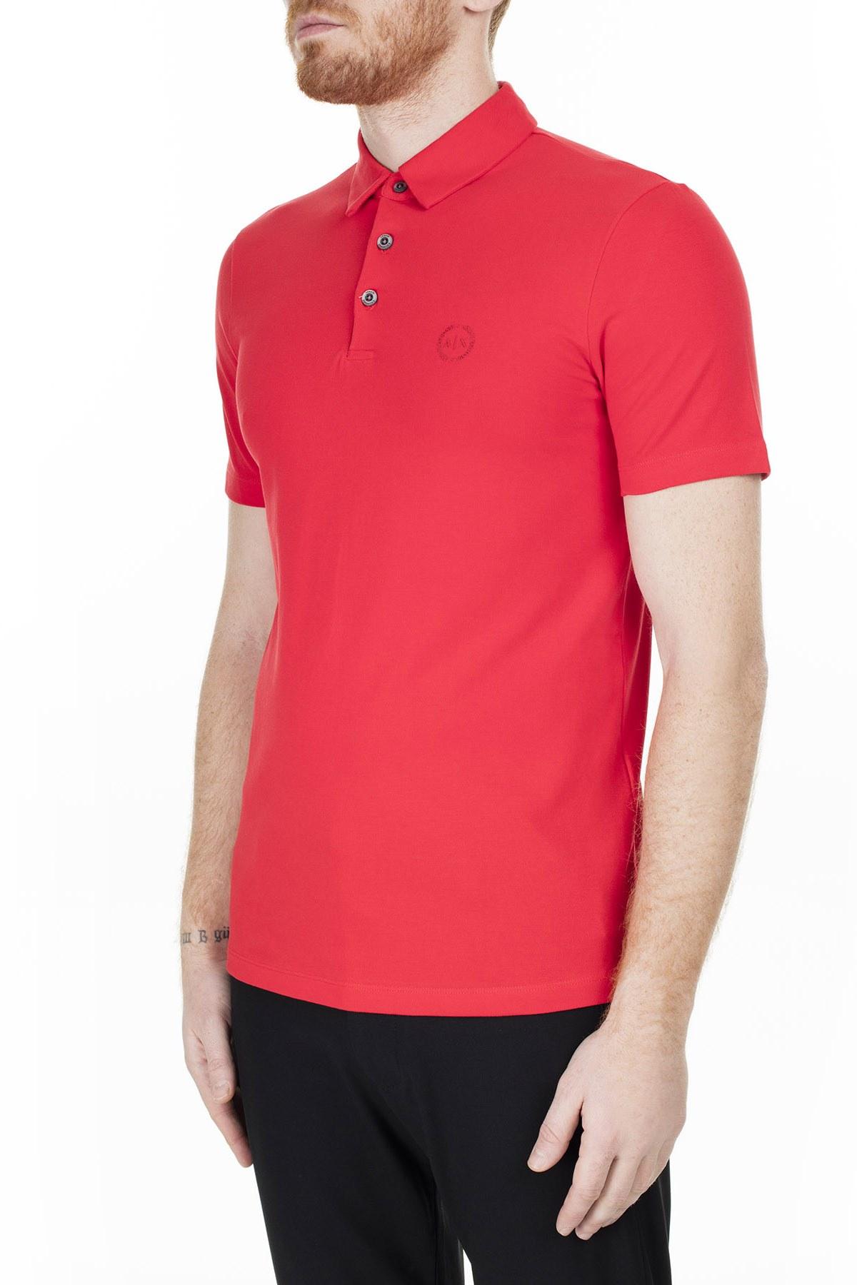 Armani Exchange T Shirt Erkek Polo 8NZF78 ZJ81Z 1400 KIRMIZI