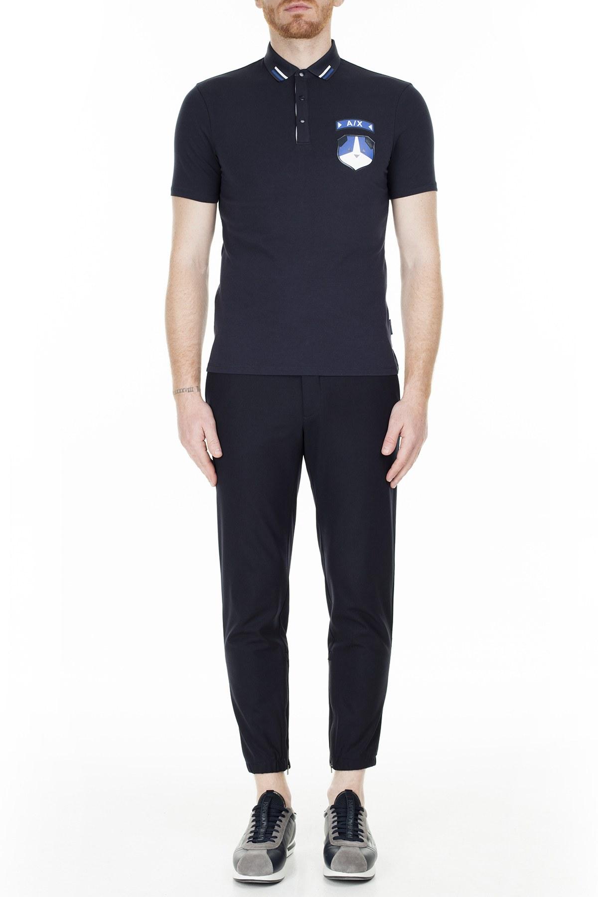 Armani Exchange T Shirt Erkek Polo S 6GZF94 ZJU8Z 1510 LACİVERT