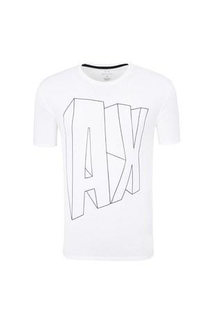 Armani Exchange - ARMANI EXCHANGE T SHIRT Erkek T Shirt 6ZZTAG ZJS3Z 1100 BEYAZ