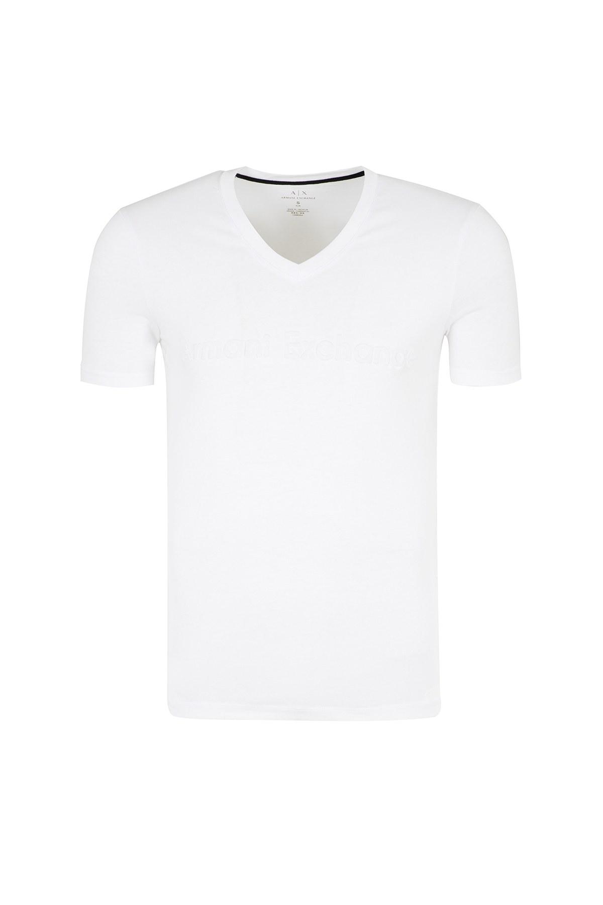ARMANI EXCHANGE T SHIRT Erkek T Shirt 6ZZTAX ZJH4Z 1100 BEYAZ