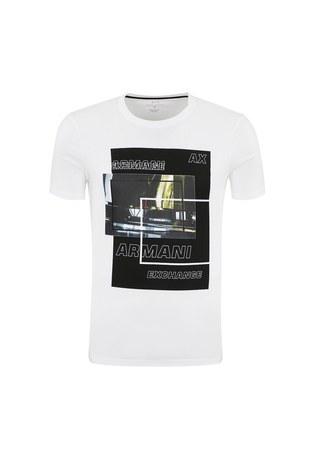 Armani Exchange - ARMANI EXCHANGE T SHIRT Erkek T Shirt 6ZZTBF ZJBUZ 1100 BEYAZ