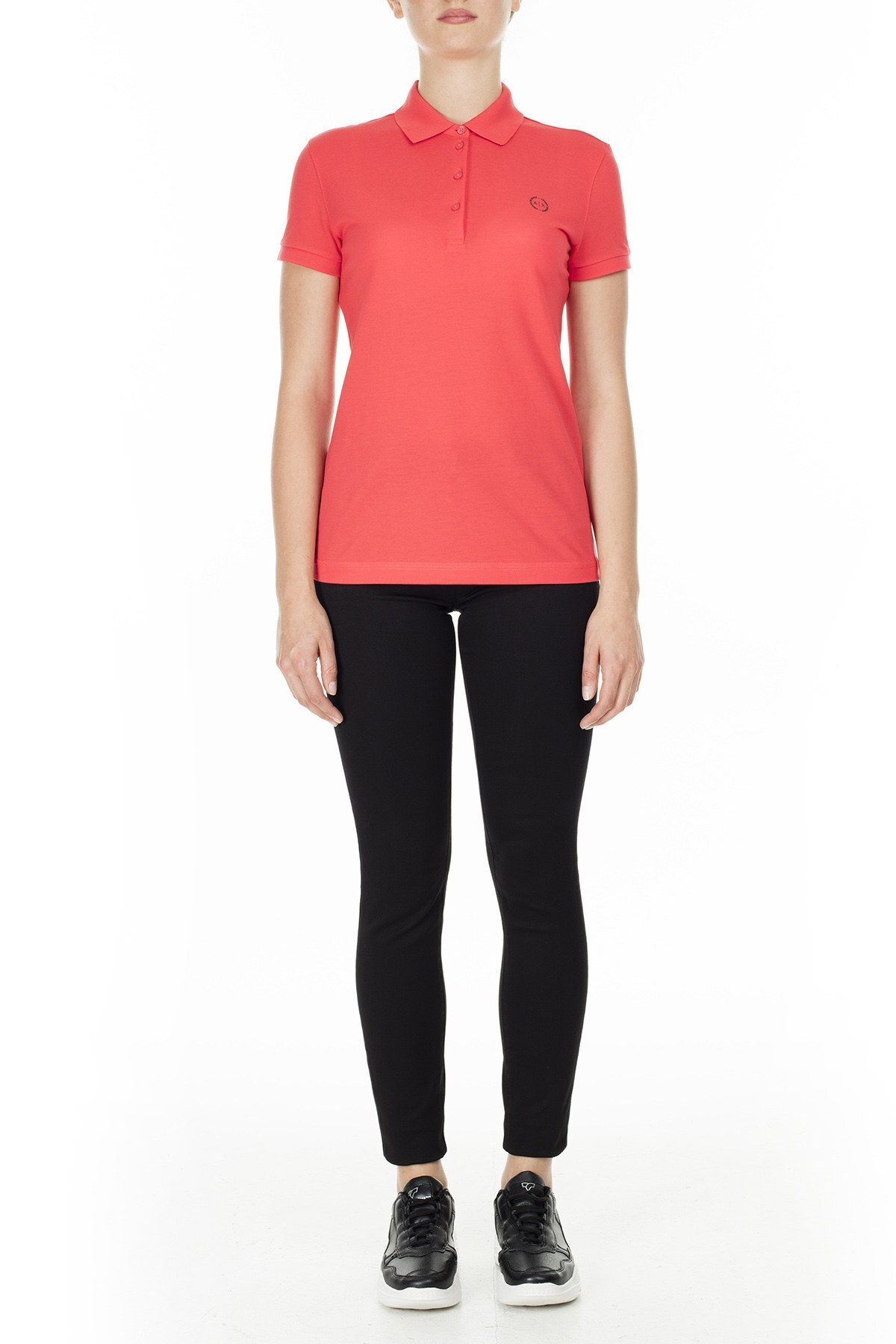 Armani Exchange T Shirt Bayan Polo 8NYF73 YJ17Z 1476 MERCAN