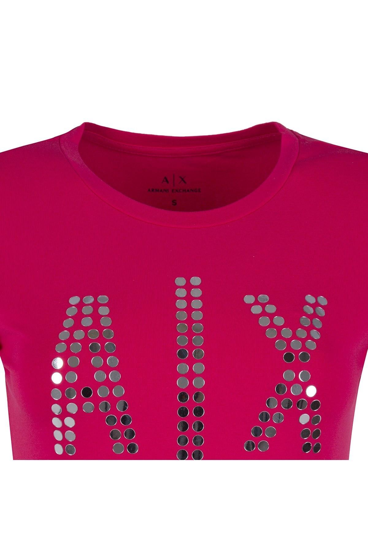 ARMANI EXCHANGE T SHIRT Bayan T Shirt 3ZYTAB YJS8Z 1428 PEMBE
