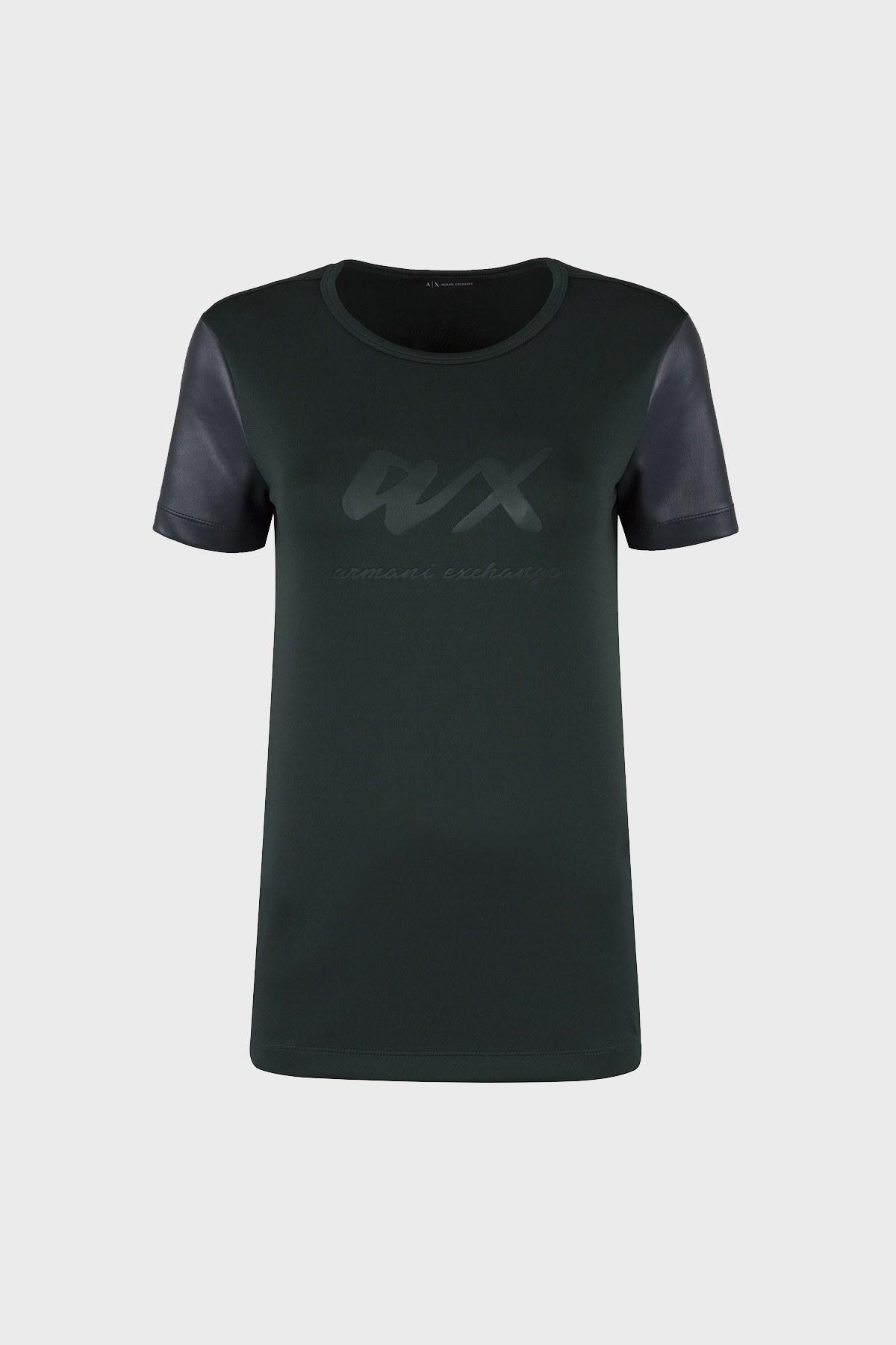 ARMANI EXCHANGE T SHIRT Bayan T Shirt 6ZYM88 YJT6Z 0857 YEŞİL