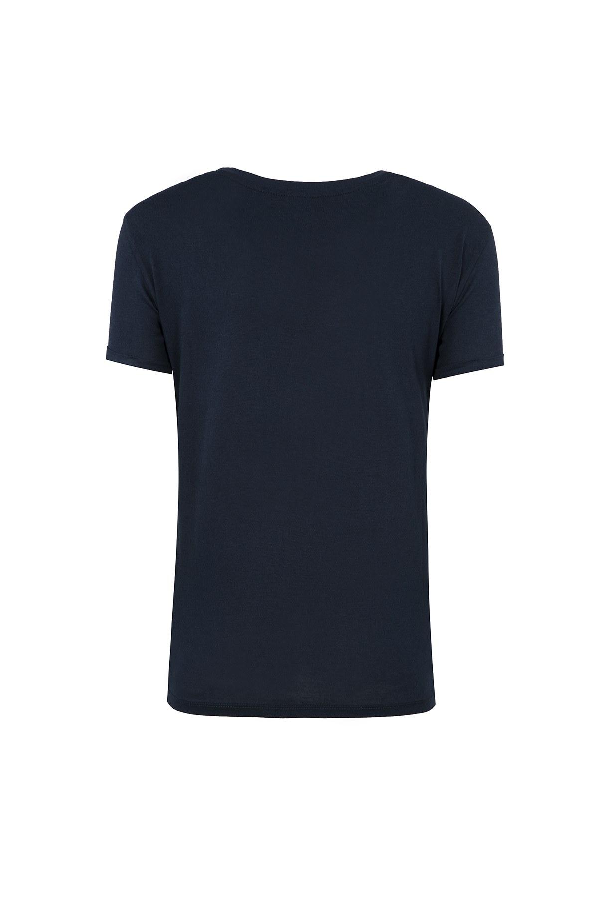 ARMANI EXCHANGE T SHIRT Kadın T Shirt 6ZYTAH YJW3Z 1510 LACİVERT