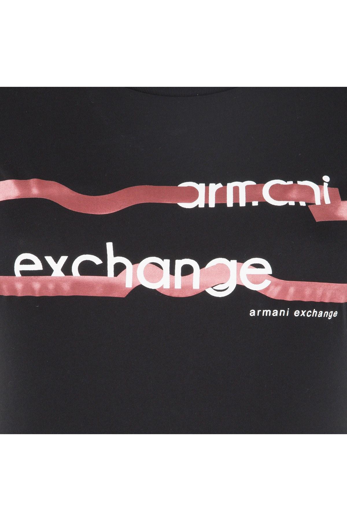 ARMANI EXCHANGE T SHIRT Bayan T Shirt 6ZYTAP YJA8Z 1200 SİYAH