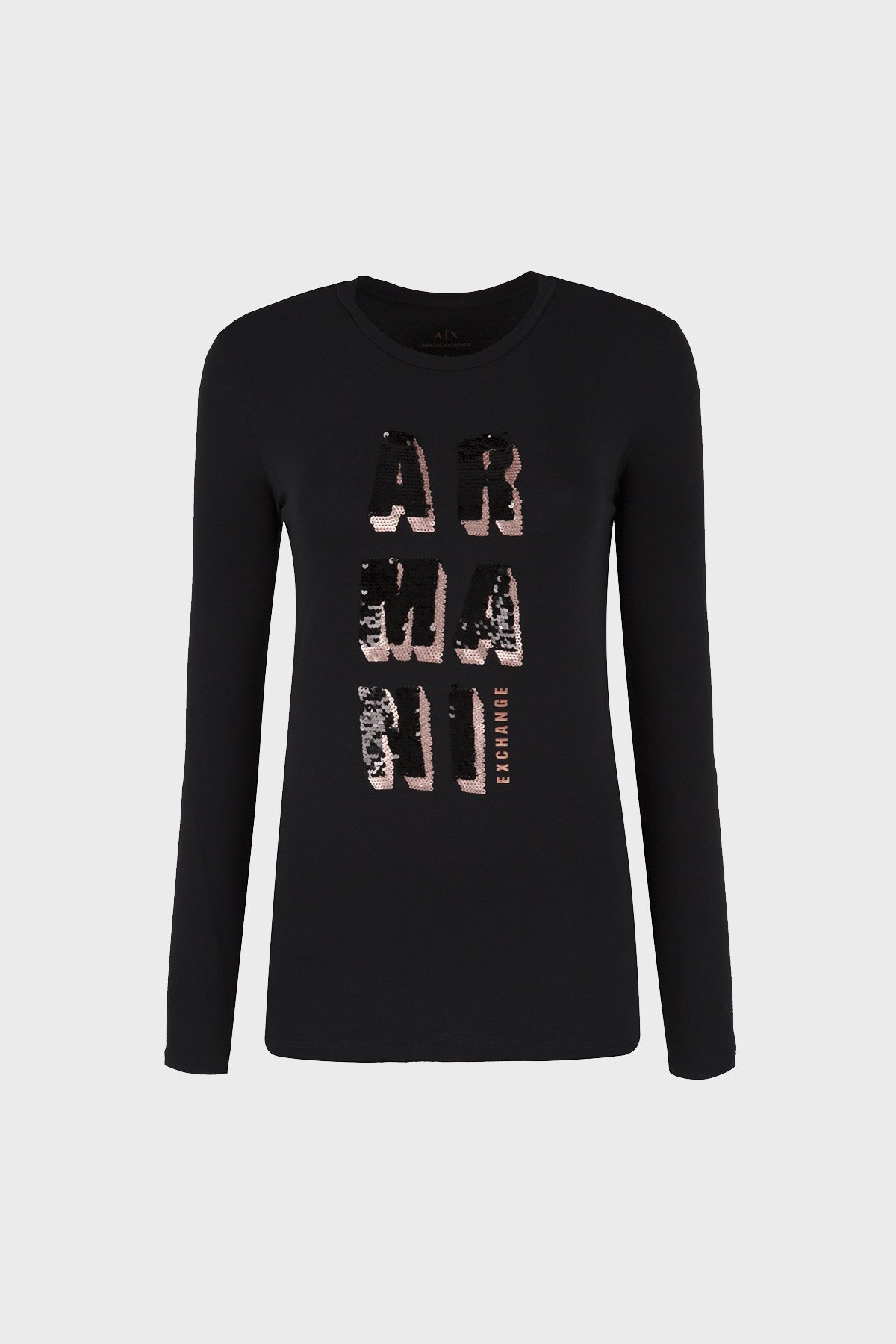 ARMANI EXCHANGE T SHIRT Bayan T Shirt 6ZYTAU YJC7Z 1200 SİYAH