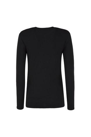 Armani Exchange - ARMANI EXCHANGE T SHIRT Bayan T Shirt 6ZYTAU YJC7Z 1200 SİYAH (1)