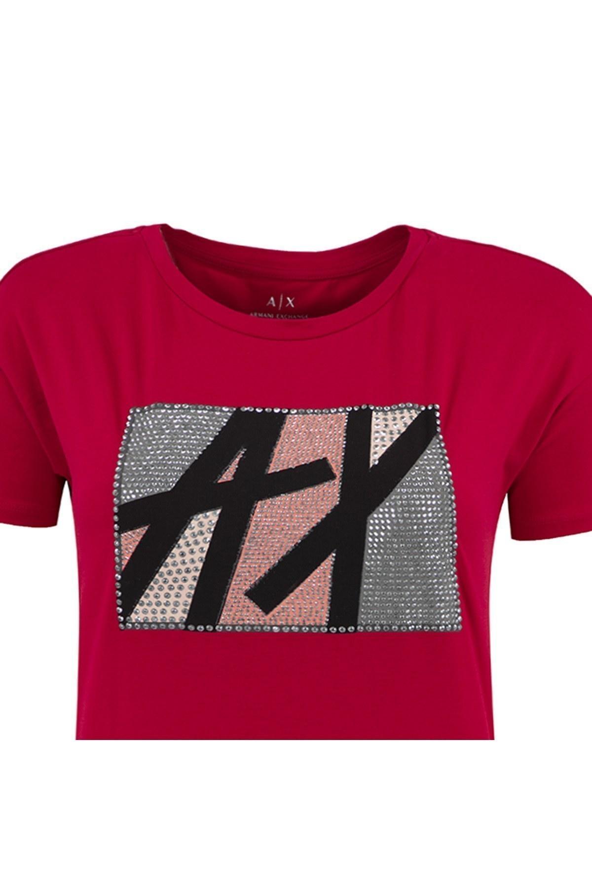 ARMANI EXCHANGE T SHIRT Bayan T Shirt 6ZYTAV YJS8Z 1445 KIRMIZI