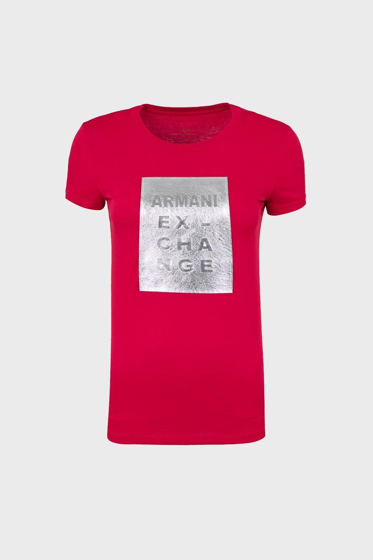 ARMANI EXCHANGE T SHIRT Bayan T Shirt 6ZYTBF YJC9Z 1445 KIRMIZI