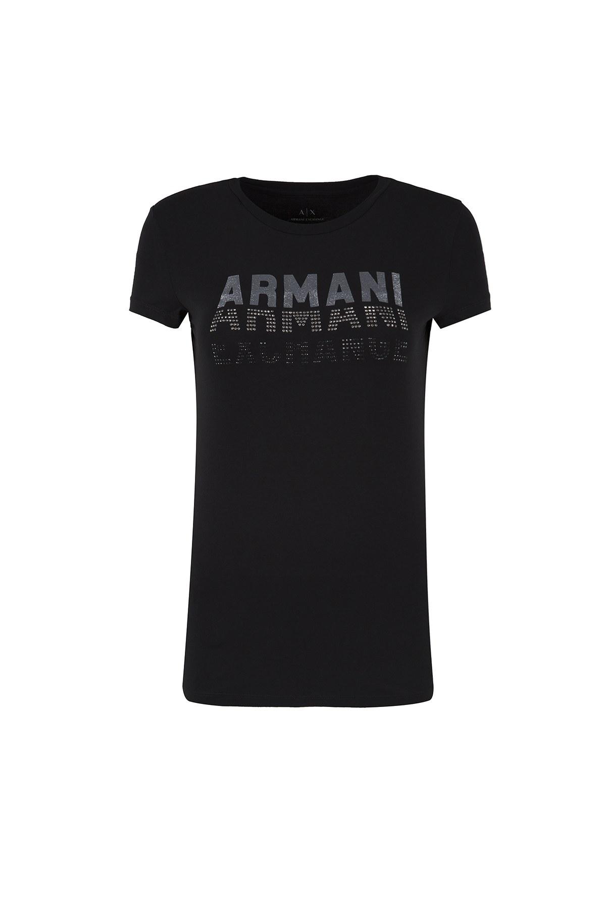 ARMANI EXCHANGE T SHIRT Bayan T Shirt 6ZYTCM YJC7Z 1200 SİYAH