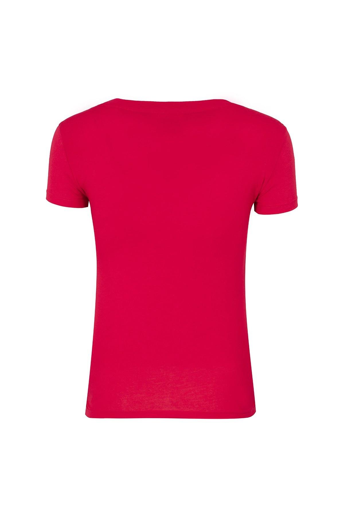 ARMANI EXCHANGE T SHIRT Kadın T Shirt 8NYT83 Y8A8Z 1445 KIRMIZI