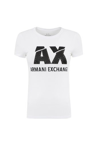 ARMANI EXCHANGE T SHIRT Kadın T Shirt 8NYT86 Y8C7Z 1100 BEYAZ