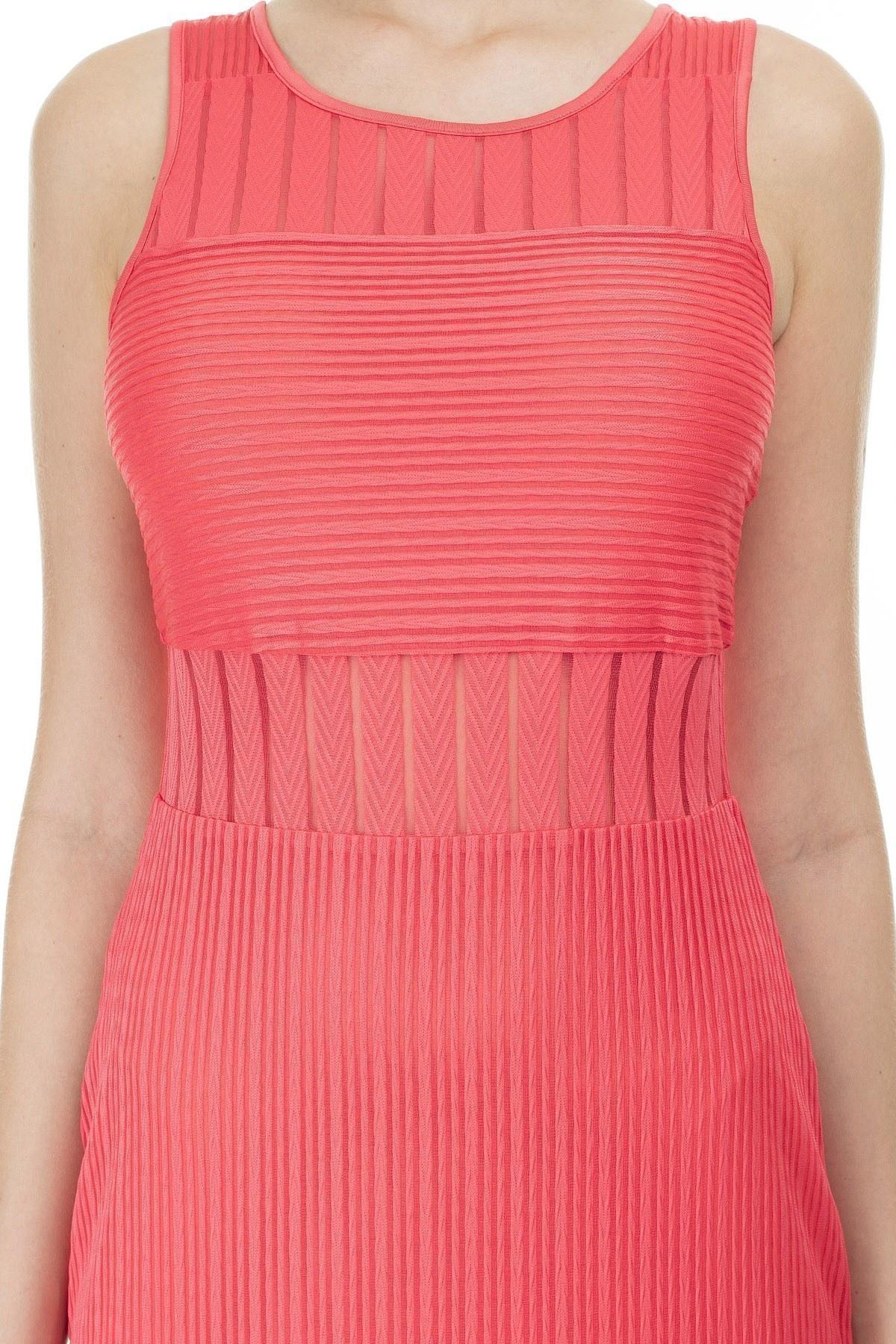 Armani Exchange Yarı Saydam Panelli Bodycon Uzun Kadın Elbise 3HYA95 YJ88Z 1476 MERCAN