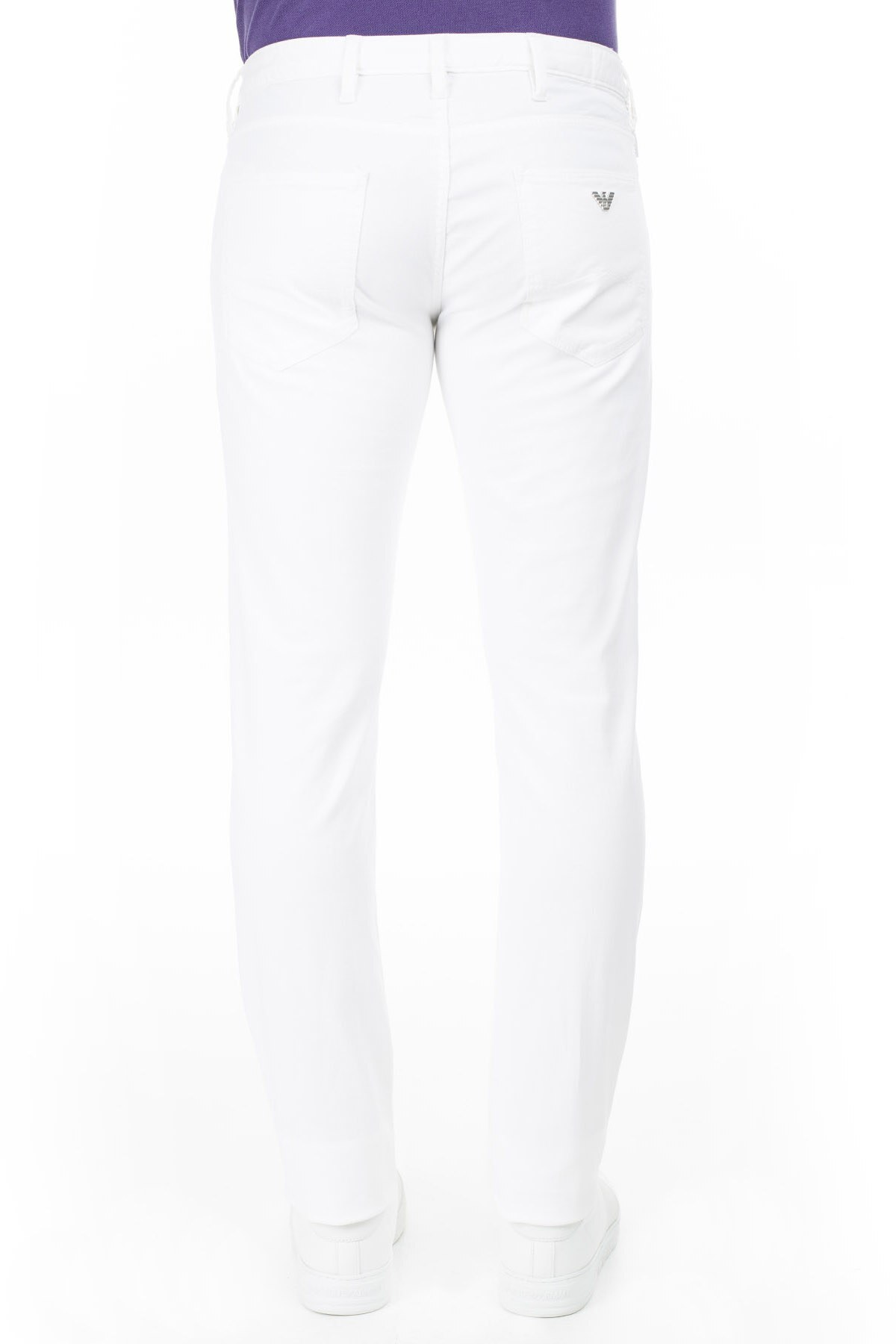 Armani J06 Jeans Erkek Kot Pantolon 3Y6J06 6D18Z 1100 BEYAZ