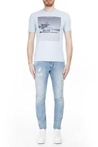 Armani Jeans - Armani J06 Jeans Erkek Kot Pantolon 3Y6J06 6D1VZ 1500 AÇIK MAVİ