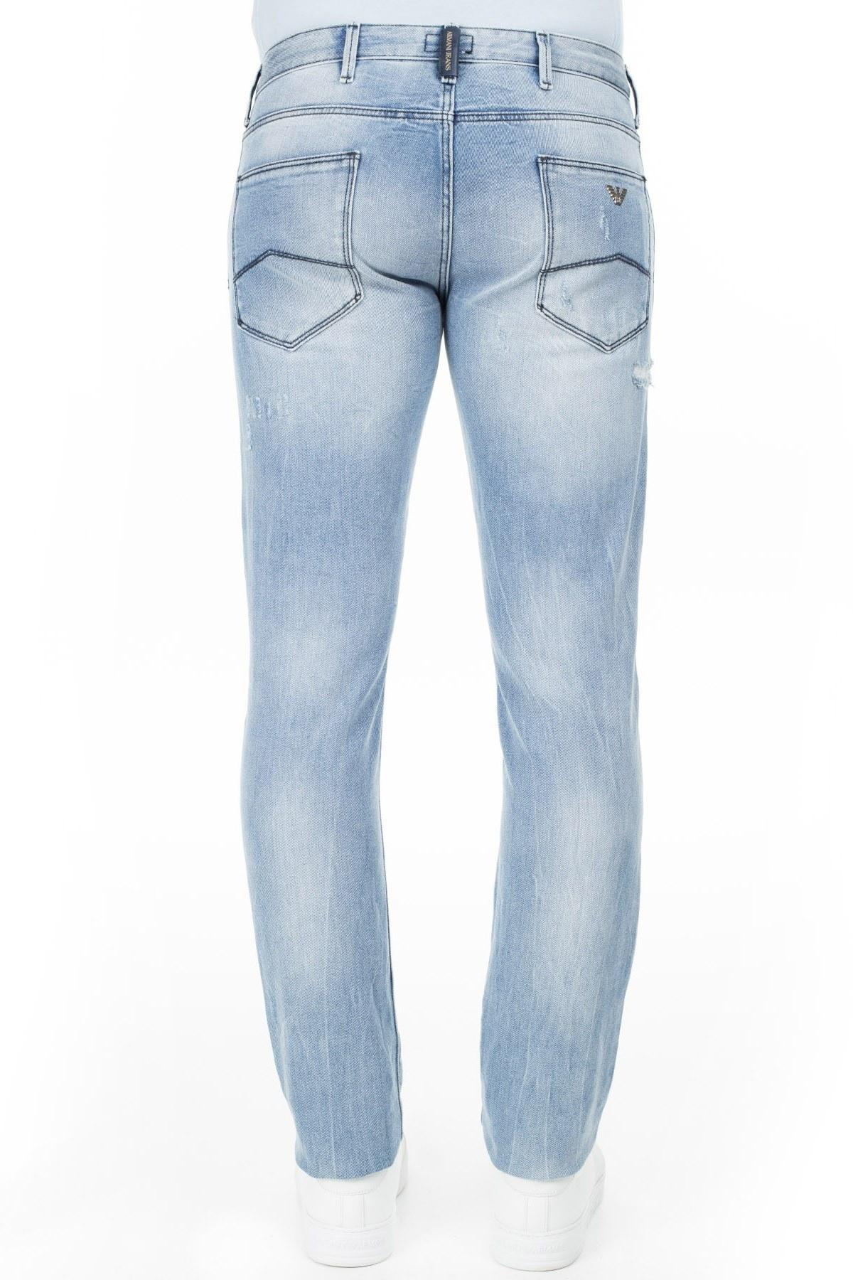 Armani J06 Jeans Erkek Kot Pantolon 3Y6J06 6D1VZ 1500 AÇIK MAVİ