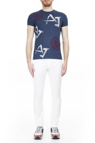Armani Jeans - Armani J06 Jeans Erkek Pamuklu Pantolon 3Y6J06 6NEDZ 1100 BEYAZ