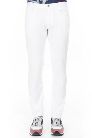 Armani Jeans - Armani J06 Jeans Erkek Pamuklu Pantolon 3Y6J06 6NEDZ 1100 BEYAZ (1)
