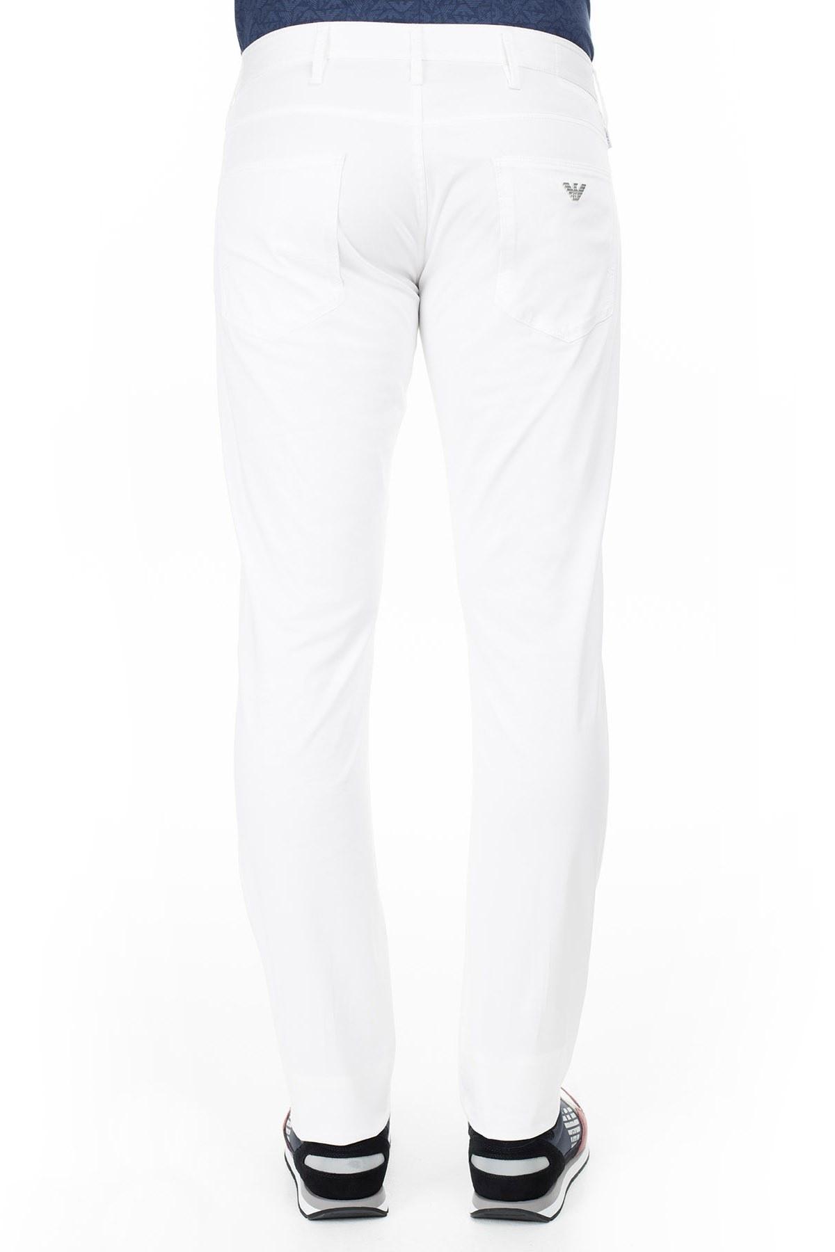 Armani J06 Jeans Erkek Pamuklu Pantolon 3Y6J06 6NEDZ 1100 BEYAZ