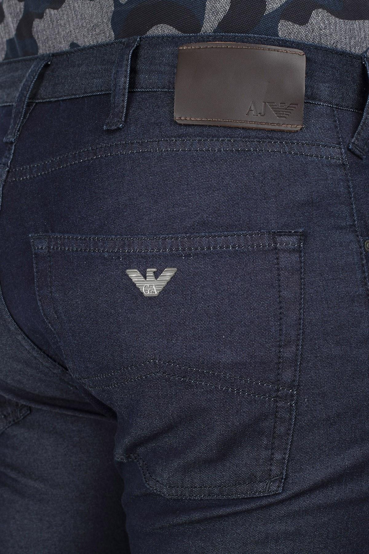 Armani J45 Jeans Erkek Kot Pantolon 8N6J45 6D0KZ 1500 KOYU LACIVERT