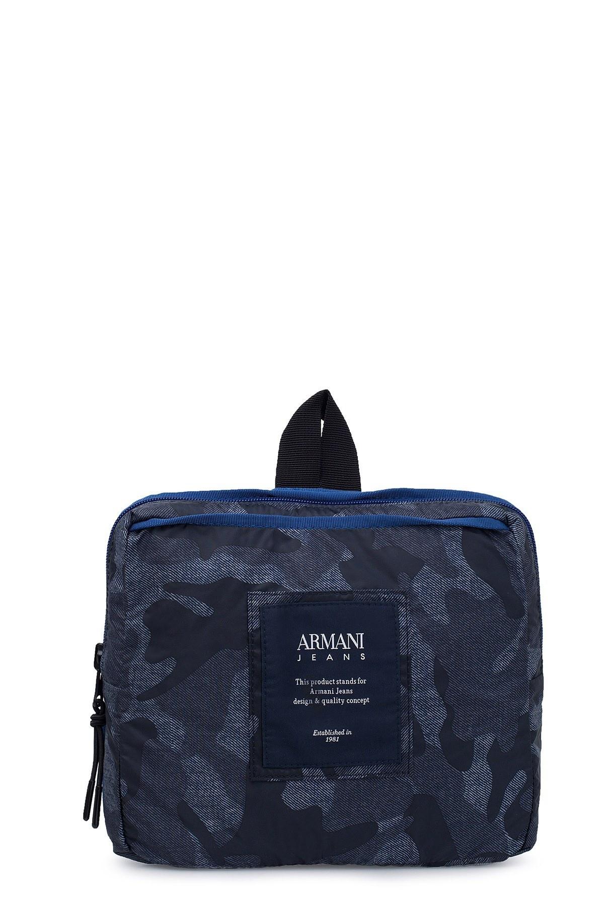 Armani Jeans Erkek Çanta 932063 7P924 40435 LACİVERT KAMUFLAJ