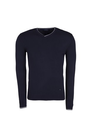 Armani Jeans - ARMANI JEANS Erkek Triko 6Y6MB2 6M0IZ LACİVERT