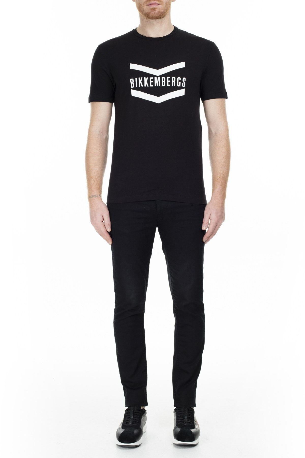 Bikkembergs Erkek T Shirt C700123E1823C74 SİYAH