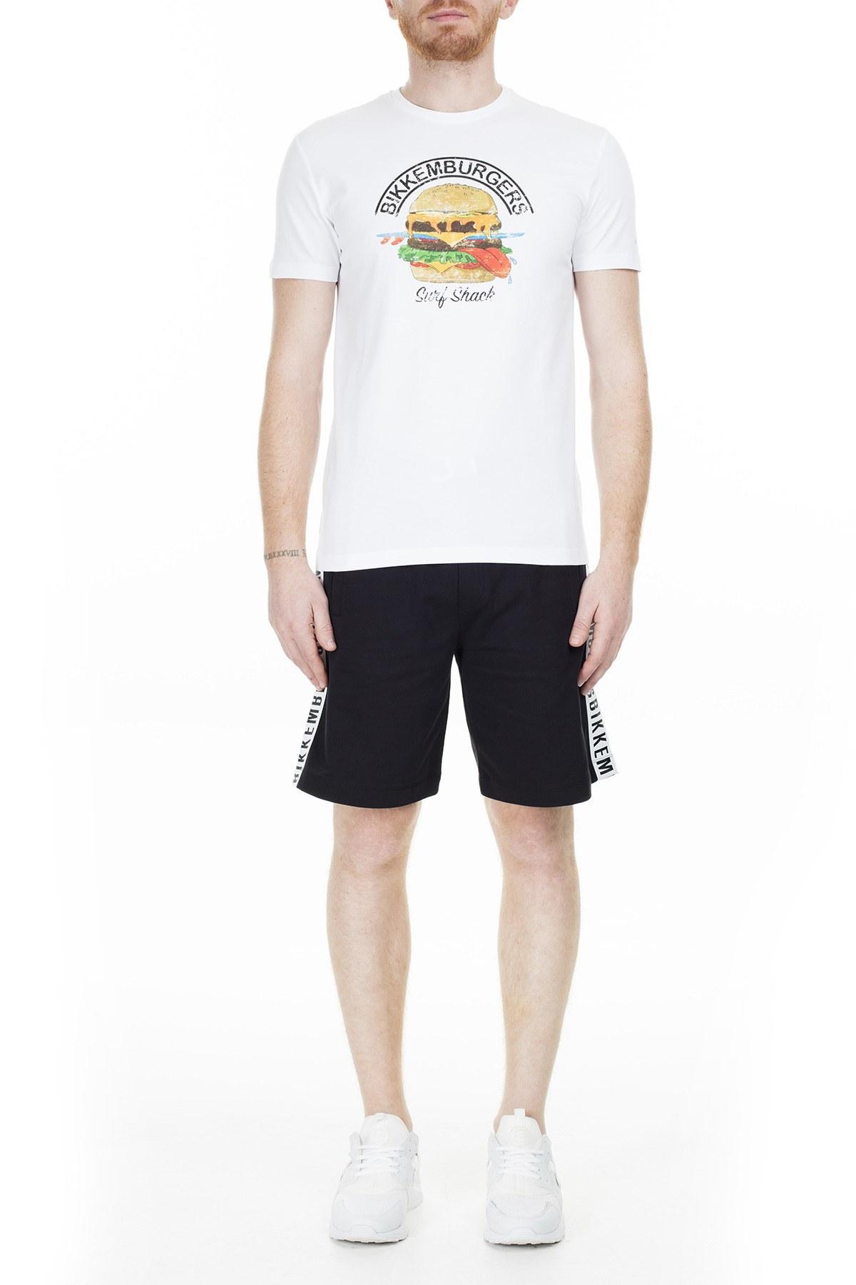 Bikkembergs Erkek T Shirt C7001D4E1814A00 BEYAZ