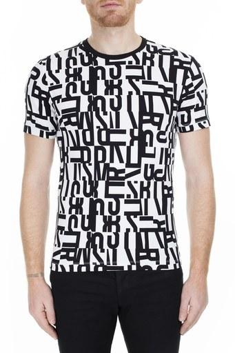 Bikkembergs Erkek T Shirt C701100E20410032 SİYAH-BEYAZ