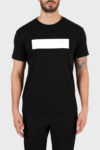 Calvin Klein % 100 Organik Pamuklu Slim Fit Erkek T Shirt J30J318453 BEH SİYAH
