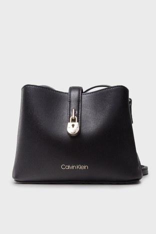 Calvin Klein - Calvin Klein Ayarlanabilir Askılı Deri Bayan Çanta K60K607532 BAX SİYAH