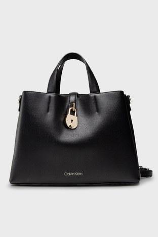 Calvin Klein - Calvin Klein Ayarlanabilir Askılı Deri Bayan Çanta K60K607671 BAX SİYAH