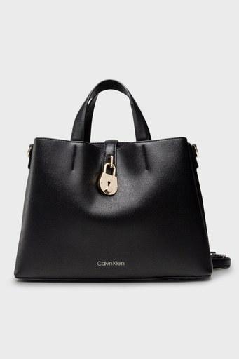 Calvin Klein Ayarlanabilir Askılı Deri Bayan Çanta K60K607671 BAX SİYAH