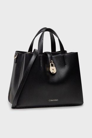 Calvin Klein - Calvin Klein Ayarlanabilir Askılı Deri Bayan Çanta K60K607671 BAX SİYAH (1)