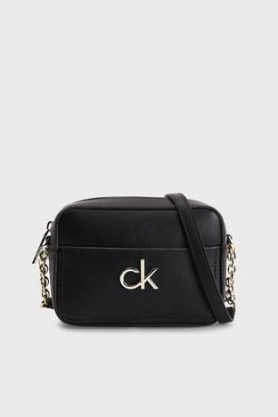 Calvin Klein - Calvin Klein Ayarlanabilir Zincir Detaylı Askılı Bayan Çanta K60K608287 BAX SİYAH