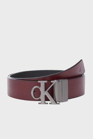 Calvin Klein - Calvin Klein Çift Taraflı Hakiki Deri Erkek Kemer K50K507066 0GP SİYAH-BORDO (1)