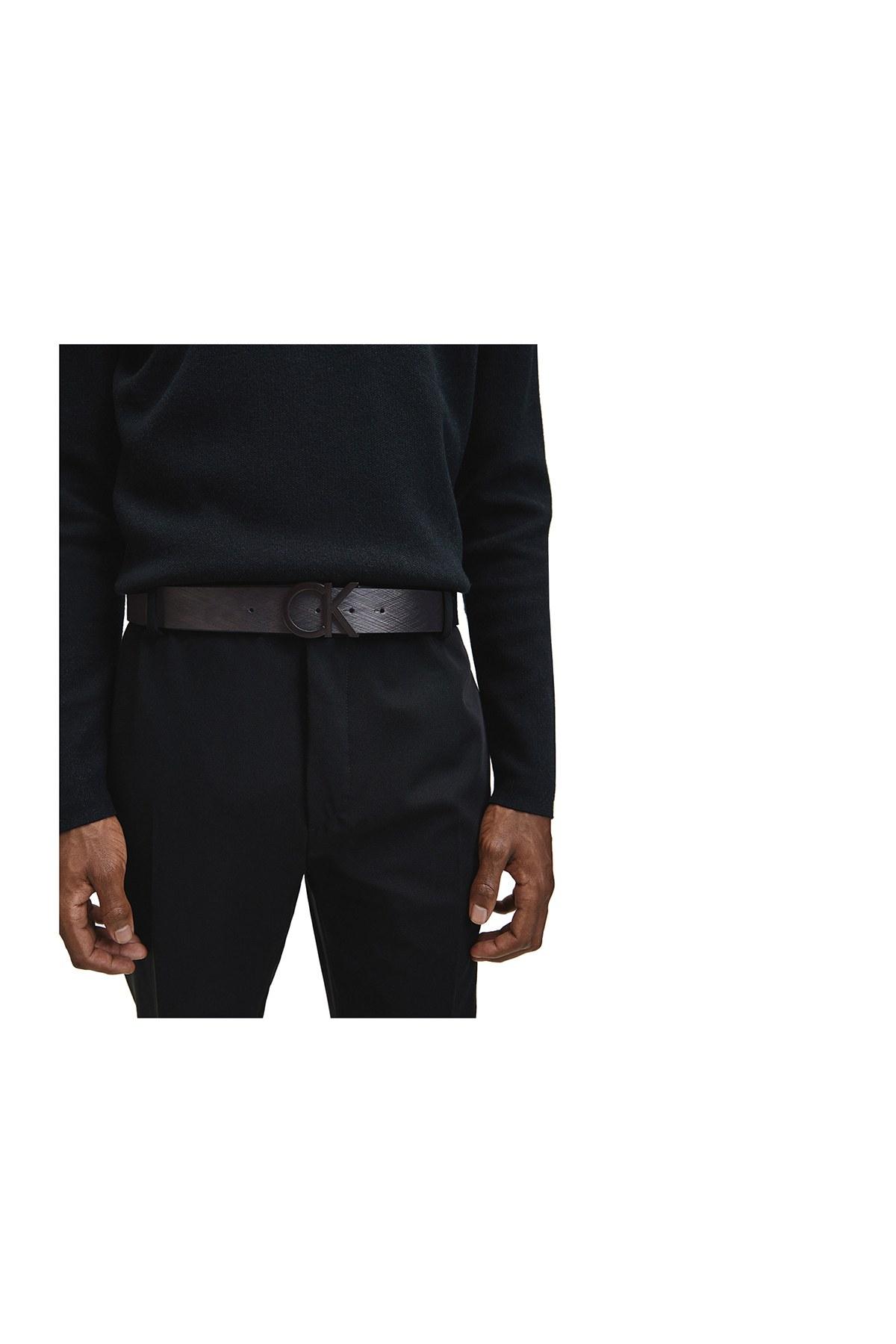Calvin Klein Deri Erkek Kemer K50K506000 BAX SİYAH