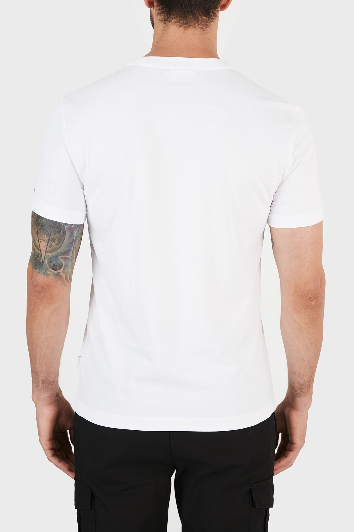 Calvin Klein Erkek T Shirt K10K106844 YAF BEYAZ