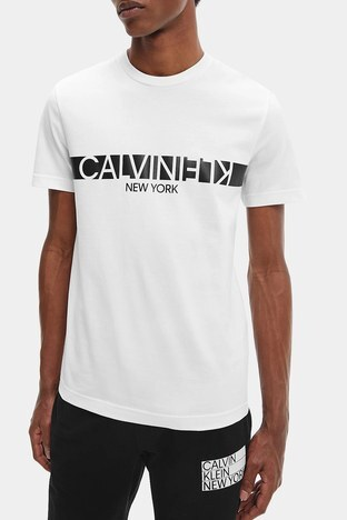 Calvin Klein - Calvin Klein Erkek T Shirt K10K107124 YAF BEYAZ