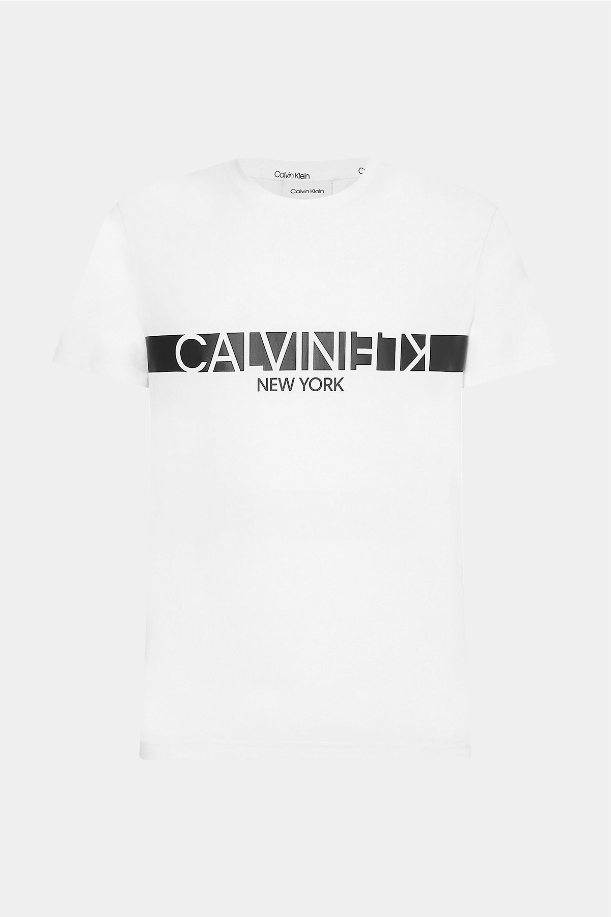 Calvin Klein Erkek T Shirt K10K107124 YAF BEYAZ