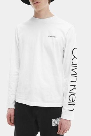 Calvin Klein - Calvin Klein Erkek T Shirt K10K107156 YAF BEYAZ