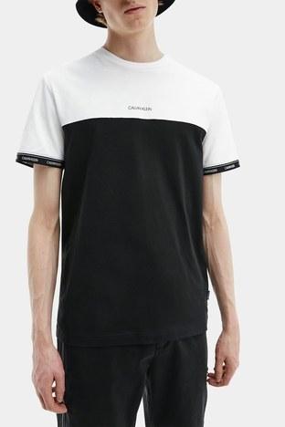 Calvin Klein - Calvin Klein Erkek T Shirt K10K107411 0XP SİYAH-BEYAZ