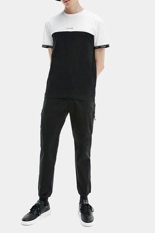 Calvin Klein - Calvin Klein Erkek T Shirt K10K107411 0XP SİYAH-BEYAZ (1)